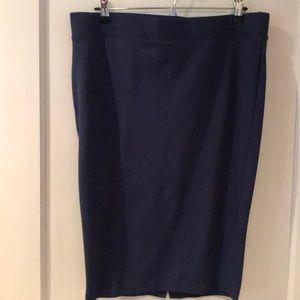 Torrid blue pencil skirt size one